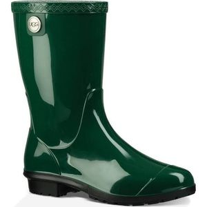 UGG SIENNA GREEN SHEEPSKIN INSOLE RAIN BOOT